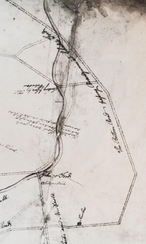 1777 - Jacob Broom Map with G.Washington's annotations