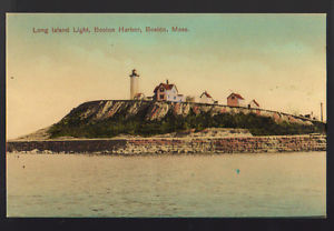 Historic drawing of Long Island Light House is a good example of a view for navigational purposes that is now lost.