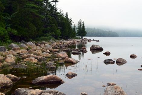 Jordan Pond in the Mist