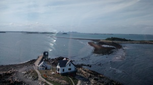 View of Little Brewster Island from the top of Boston Light