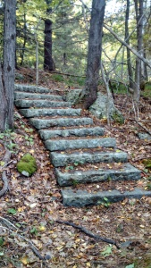 Granite steps at Old Farm, the Dorr Family Estate, Acadia National Park.