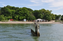 Landing on Thompson Island