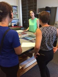 Rebecca explaining paint analyzation