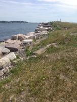Sea Wall on Georges Island