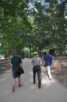 Chris, Margie & Ethan on Site Walk