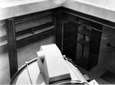 View into the search light vault at Fort Rosencrans, 1920