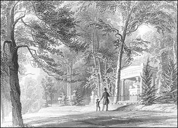 Engraving from Mount Auburn's early years