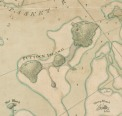 Land use: 1781 map of Peddocks showing the Cleverly Farm and navigational tree