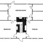Typical full Cape Cod floorplan