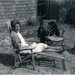 Frances Biddle in Deck Chair