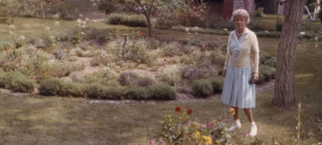 Frances Biddle in the Gardens