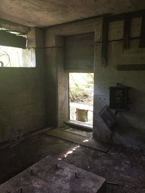A control room for one of the Fort Andrews batteries