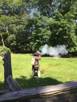Musket firing demonstration