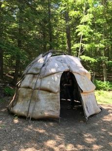 Abbe Museum birch-bark hut reconstruction